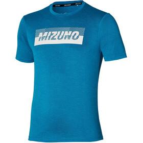 Mizuno Core Mizuno Graphic Tee Men, mykonos blue
